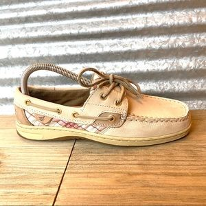 Sperry Women's Slip-on Tan Boat Shoe, Size 7.5 EUC